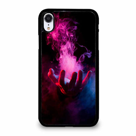 HAND INSIDE COLORFUL SMOKE ON BLACK iPhone XR Case