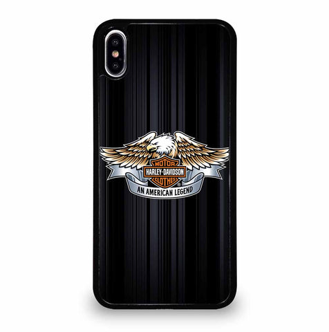 HARLEY DAVIDSON LOGO STRIPED iPhone XS Max Case Cover