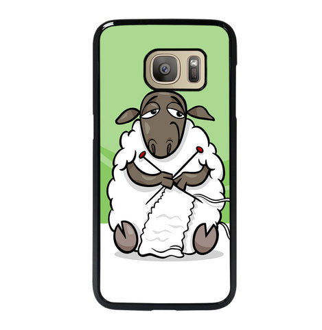 Knitting Sheep Cartoon for Samsung Galaxy S7 Case