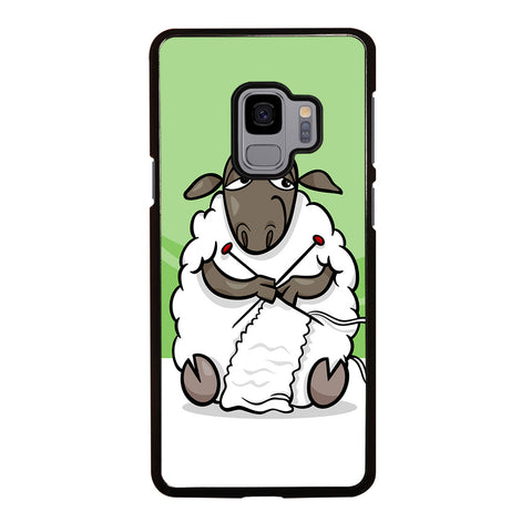 Knitting Sheep Cartoon for Samsung Galaxy S9 Case Cover