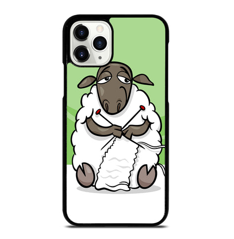Knitting Sheep Cartoon for iPhone 11 Pro Case