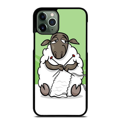 Knitting Sheep Cartoon for iPhone 11 Pro Max Case