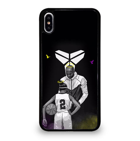 Kobe Bryant Black Mamba And Gigi for iPhone XS Max Case