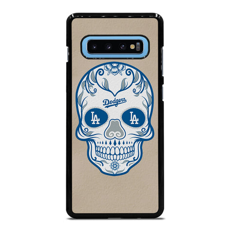 LA Los Angeles Dodgers Skull for Samsung Galaxy S10 Plus Case