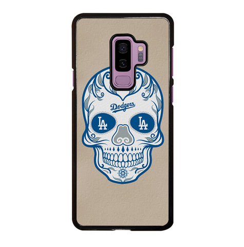 LA Los Angeles Dodgers Skull for Samsung Galaxy S9 Plus Case