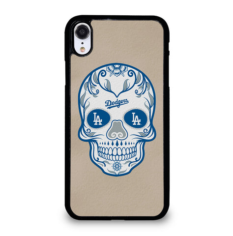 LA Los Angeles Dodgers Skull for iPhone XR Case Cover