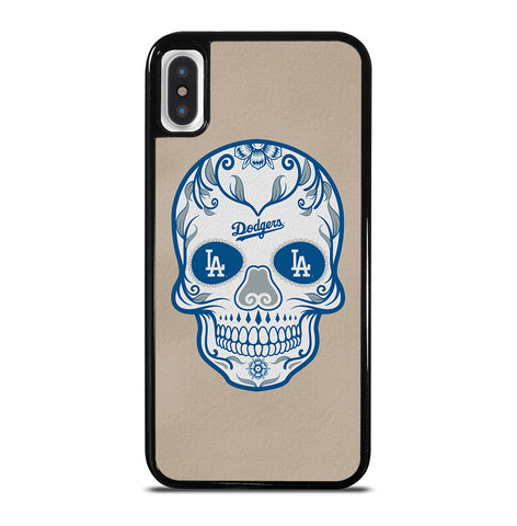 LA Los Angeles Dodgers Skull for iPhone X or XS Case Cover
