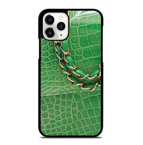 Lime Green Crocodile Classic for iPhone 11 Pro Case Cover