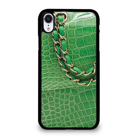 Lime Green Crocodile Classic for iPhone XR Case