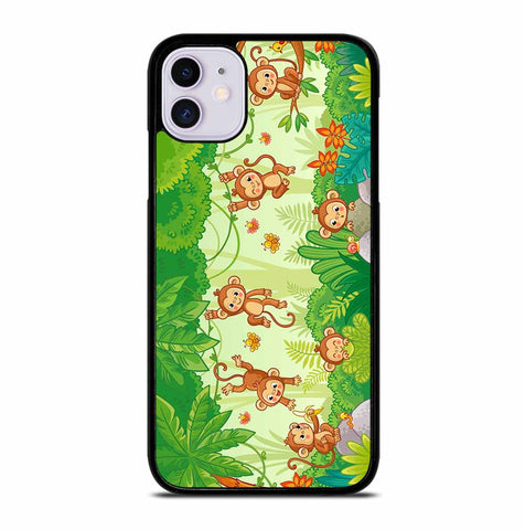 MACAQUES AMONG THE TREES iPhone 11 Case