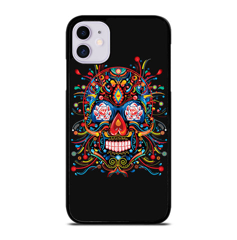 Mexican Sugar Skull Tattoo for iPhone 11 Case