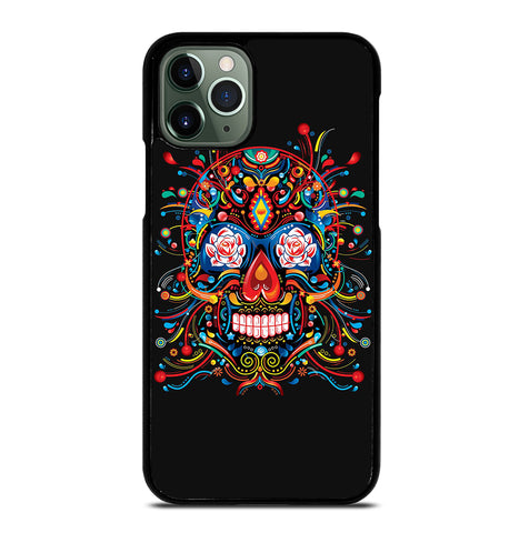 Mexican Sugar Skull Tattoo for iPhone 11 Pro Max Case