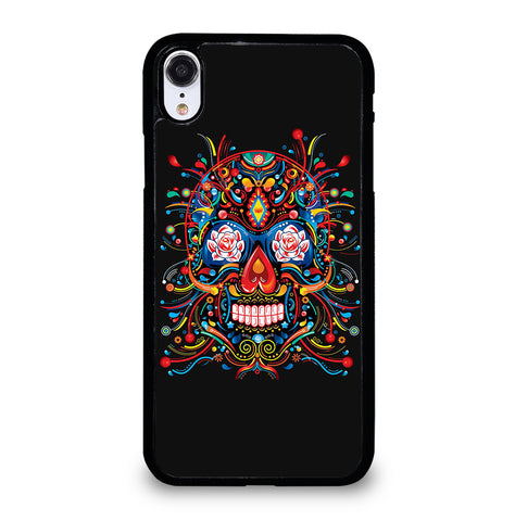 Mexican Sugar Skull Tattoo for iPhone XR Case Cover