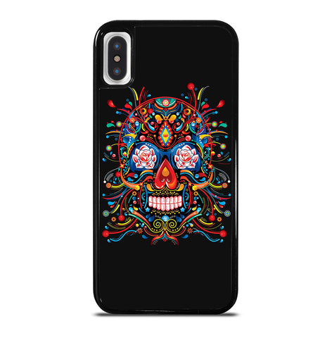 Mexican Sugar Skull Tattoo for iPhone X and XS Case