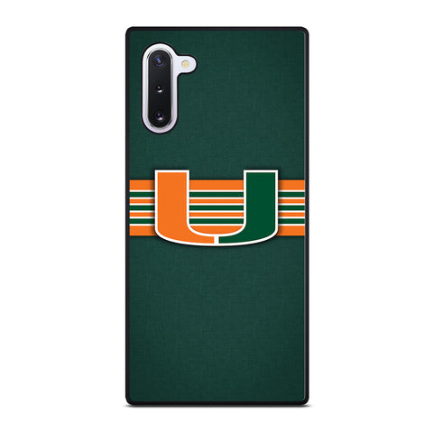 Miami Hurricanes for Samsung Galaxy Note 10 Case Cover