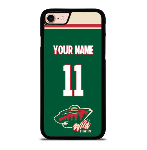 NHL Minnesota Wild Personalized Name for iPhone 7 and 8 Case