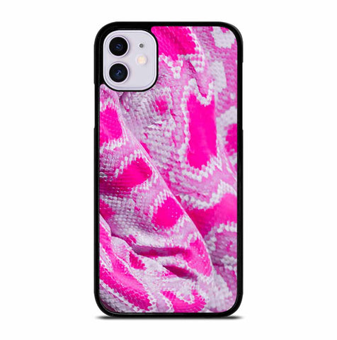 PINK SNAKE SKIN for iPhone 11 Case Cover