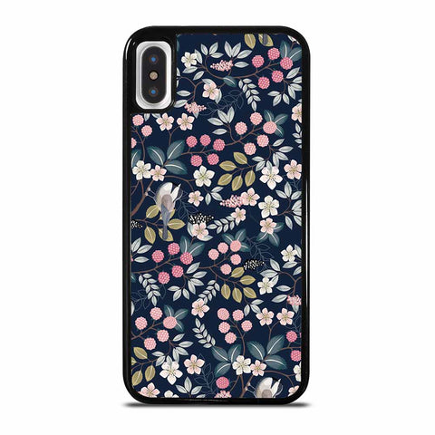 SEAMLESS FLORAL PATTERN WITH CUTE BIRDS iPhone X/XS Case