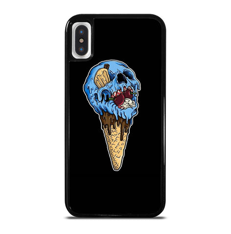 Skull Ice Cream Cone for iPhone X or XS Case Cover