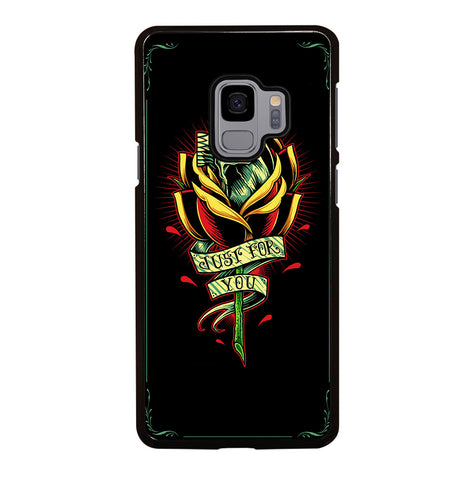 Skull and Rose Art for Samsung Galaxy S9 Case