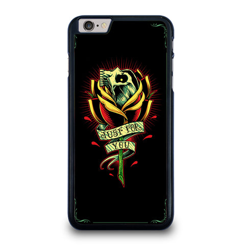 Skull and Rose Art for iPhone 6 and 6S Plus Case Cover