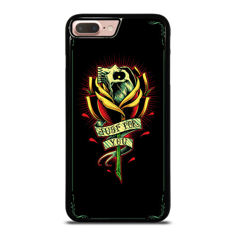 Skull and Rose Art for iPhone 7 and 8 Plus Case Cover