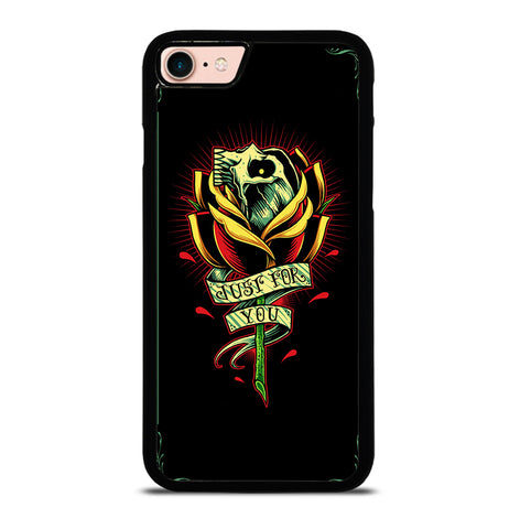 Skull and Rose Art for iPhone 7 or 8 Case Cover