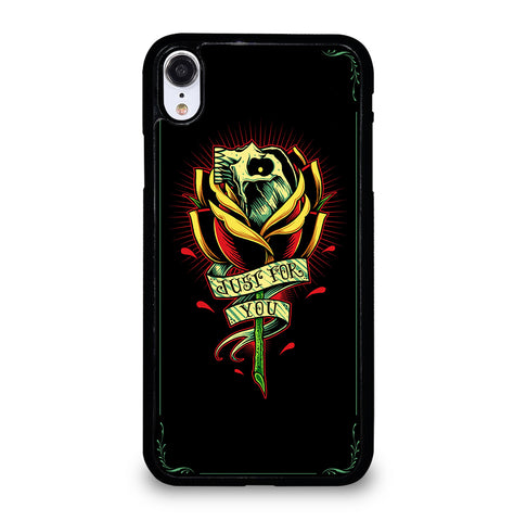 Skull and Rose Art for iPhone XR Case Cover