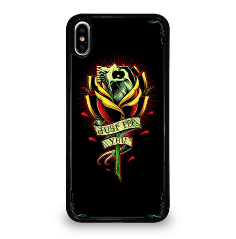Skull and Rose Art for iPhone XS Max Case Cover
