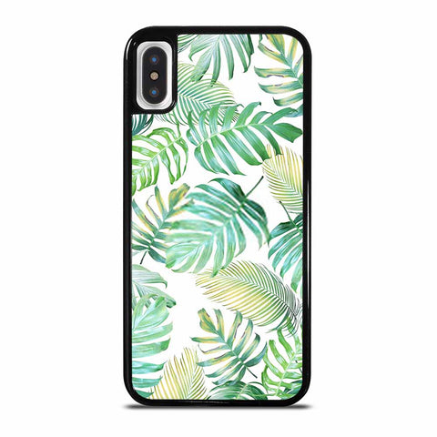 TROPICAL PALM LEAVES IN LIGHT GREEN-YELLOW COLOR TONE iPhone X and XS Case