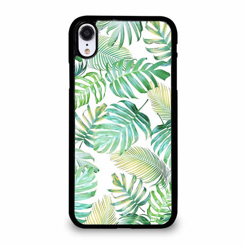 TROPICAL PALM LEAVES IN LIGHT GREEN-YELLOW COLOR TONE iPhone XR Case Cover
