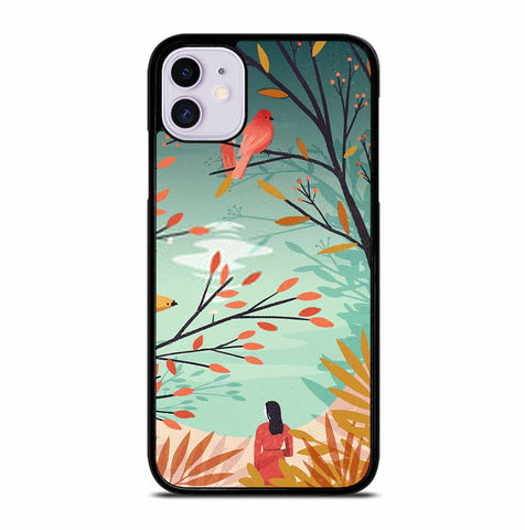 WOMAN BENEATH TREES iPhone 11 Case Cover