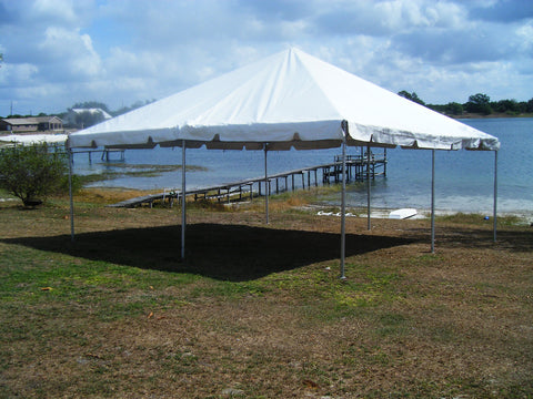 20'x20' White West Coast Frame Tent