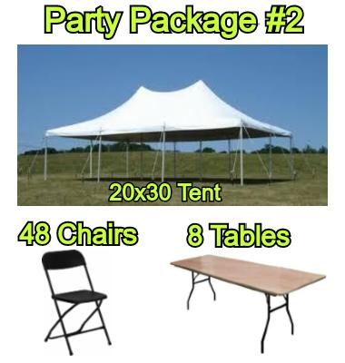 Party Package #2 - 20x30 Tent