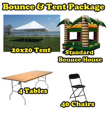 Party Package #6 (40 Person Tent & Bounce Package)