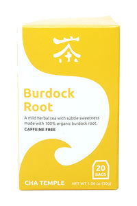 Cha Temple Organic Burdock Root Tea Bags