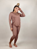 women's long sleeve two piece matching set