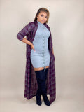 plaid duster jacket for women