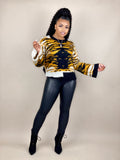 women's animal print sweater
