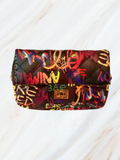 Graffiti Clutch Handbag