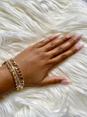 gold layer bracelet