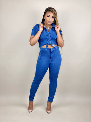 Denim Queen Jumpsuit