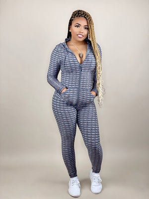 women's gray tracksuit set