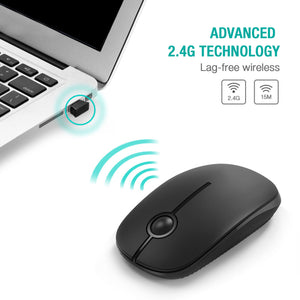 SeenDa 2.4G Wireless Mouse Silent Button Mouses For Laptop Notebook Chromebook Computer Office