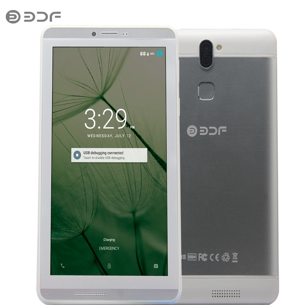 2018 BDF 7 Inch Screen Android 6.0 Phone Call Sim Card Tablet Pc Quad Core 1GB+16GB Dual Sim Card