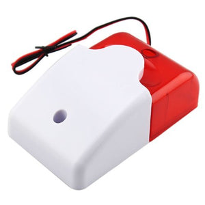 Mini Wired Strobe Siren Durable 5V 12V 24V 220V Sound Alarm Strobe Flashing Red Light Sound Siren
