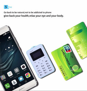 Uniwa AEKU C6 Mobile Phone GSM Bluetooth Kid Pocket Vibration Card Small Mini Button