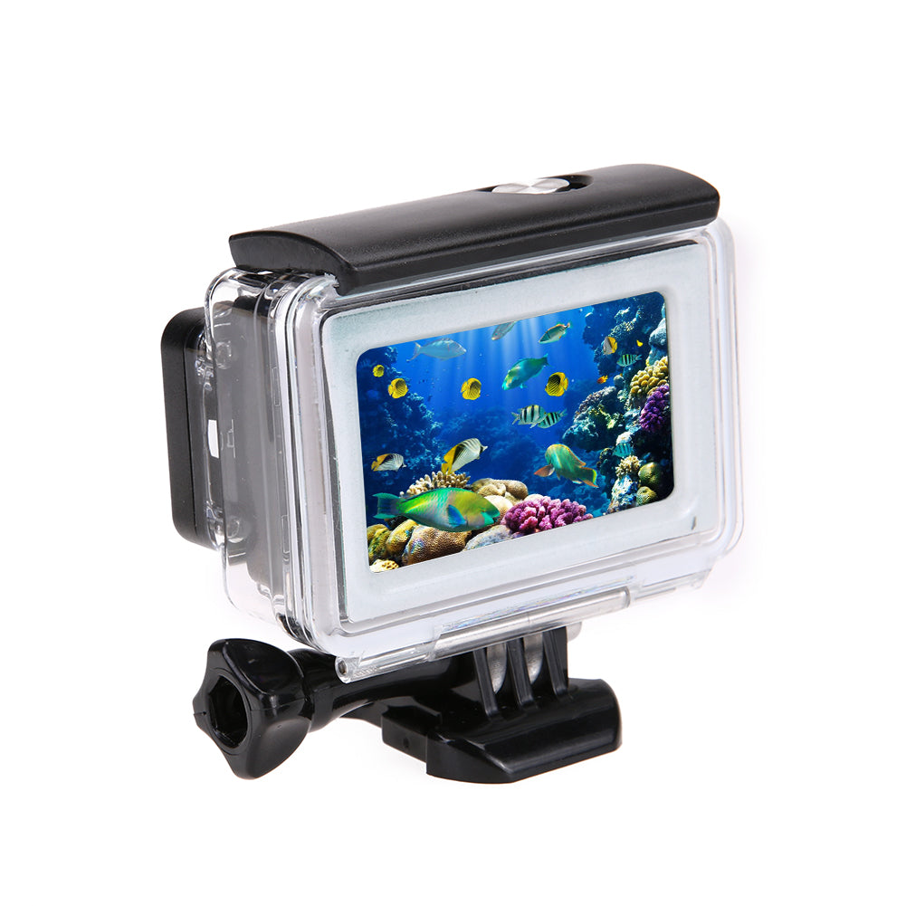 ALLOET 35m Diving Waterproof Touch Camera Case Cover Case For Xiaomi Yi 4K 2 II Action Camera Xiaoyi