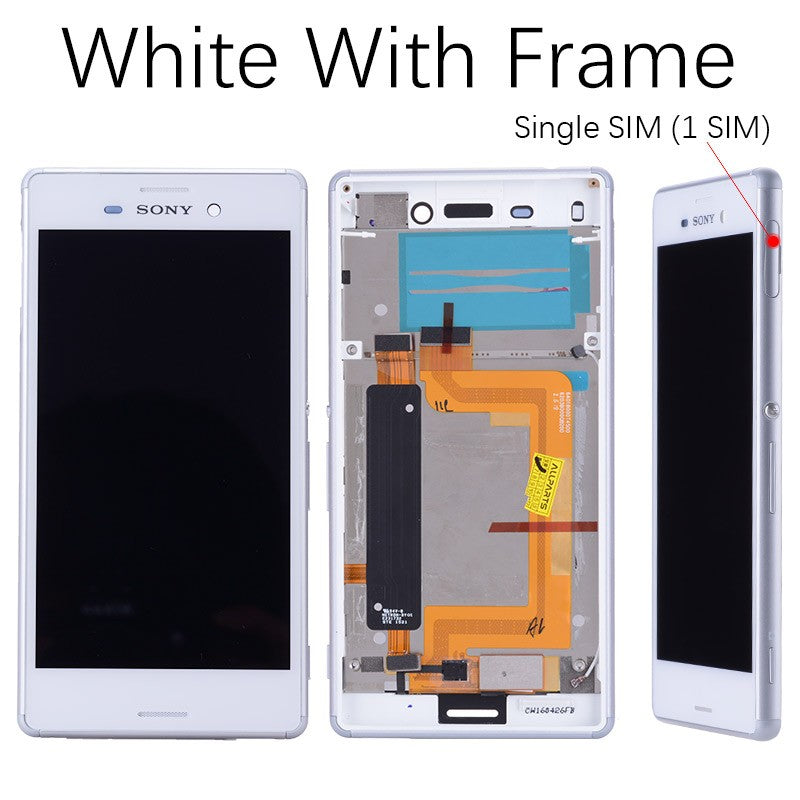 5.0 Original Single Dual SIM LCD For SONY Xperia M4 Aqua Display Touch Screen with Frame for SONY
