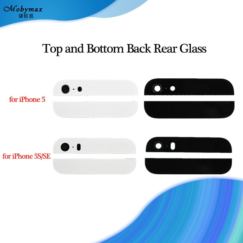1Set Back Cover Glass Rear Housing For iPhone 5 5S SE Assemble Housing Top Bottom Replacement